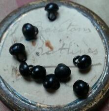 40 petits boutons de bottines anciens 19ème , antique boot buttons teddy eyes