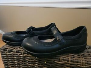 SAS Walk Easy Black Leather Mary Jane Shoes Womens Size 7.5 N EXC 76956354