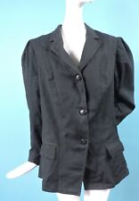 VICTORIAN 1890'S BLACK PUFF SLEEVE BUSTLE JACKET FOR DRESS