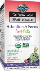 Dr. Formulated Brain Health Organic Attention & Focus for Kids, 60 Chewables