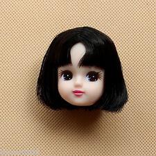 2017 Doll Accessories Head for Licca Doll White Skin Black Hair Girl's Girt