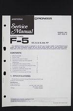 PIONEER F-5 Original Stereo Tuner Additional Service-Manual/Diagram o23