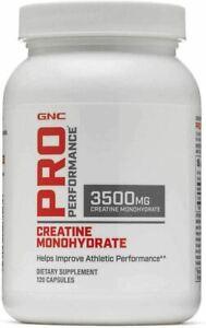 GNC ProPerformance Creatine Monohydrate 3500mg 120 Capsules