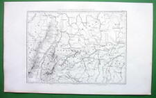 1859 ORIGINAL MAP - Germany Between Rivers Rhine & Danube