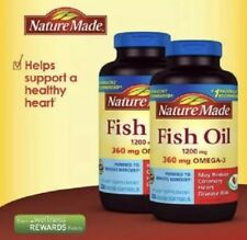 Lot Of 2 ~ Nature Made Fish Oil 1200 mg EPA DHA & 360mg OMEGA-3 400 Softgels