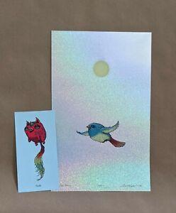 Marq Spusta 'Soaring' Bird Foil Rainbow Sparkle Variant xx/40 + Mini