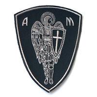 VEGASBEE® ARCHANGEL ST.MICHAEL CROSS SHIELD SWORD CHRISTIAN BIKER IRON-ON PATCH