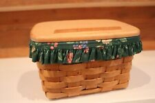 New ListingLongaberger 1996 Recipe Basket with liner, protector and lid