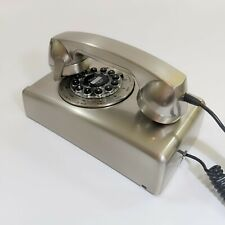 Vintage Style Crosley Model CR-57 Silver Rotary Dial Wall Mountable Phone