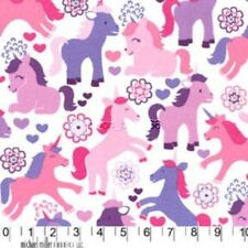 Lavender Pink Magic Unicorns Cotton Fabric Michael Millers Fabric By the Yard