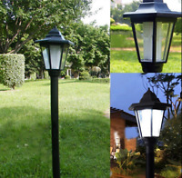 Garden LED Lights Lampost Solar Powered Borders Pathway Driveway Outdoor Patio