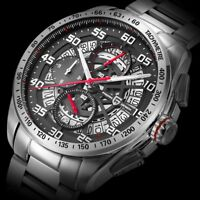 Men's Chronograph Sports Watch Luxury Swiss Quartz Sapphire Crystal Wristwatch