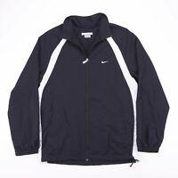 Vintage NIKE Black Zip Up Mesh Lined Track Shel Sports Jacket Mens Size Large