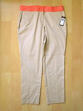 NWT $68 IZOD PerformX Khaki Stretch Cotton Taper Pants Orange Waist Mid Rise 10