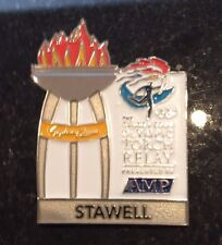 STAWELL Sydney 2000 Olympic Torch Relay AMP sponsor pin
