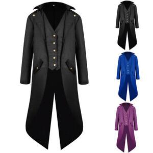 Erwachsene Herren Smoking Gentleman Steampunk Frack Gothic Lang Mantel Uniformen