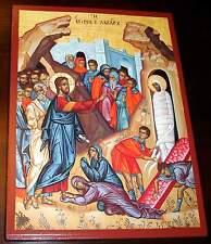 LAZARUS ERWACHE Jesus Christus IKONE Icon Raising of Lazarus Icone Ikonen IИкона