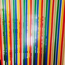 Plastic Fly Strip Blinds Room Divider Window Door Rainbow Retro Charm
