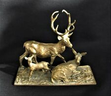 Antike Bronze Gruppe Hirsche Fratin 19 Jahrhundert