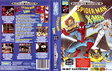 Spider-man and the x-men in arcade's revenge Sega Mega Drive Cover Box Art PAL