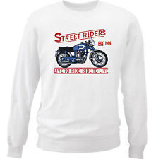 DUCATI 250 DIANA MARK 3 1964 - NEW COTTON WHITE SWEATSHIRT ALL SIZES IN STOCK