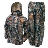 Frogg Toggs Camo All Sport Jacket Pants Combo Realtree Rain Suit
