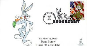 Bugs Bunny 80th Anniversary First Day Cover #10 of 10  (B&W cancel)