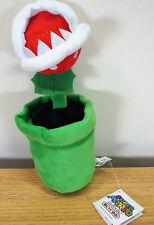 """Nintendo Super Mario Bros Planta Piraña 8"""" Hermoso Juguete de Felpa de Peluche Animales Muñeca"""