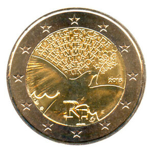 Sondermünzen Frankreich: 2 Euro Münze 2015 Frieden und Sicherheit Sondermünze