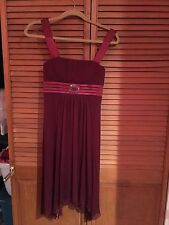 City Studio Small Burgundy Babydoll Dress New With Tags