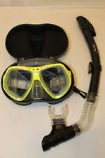 TDS Dive/Snorkel Mask - Yellow with Dry Black Snorkel- Model 91-8 Free Case!