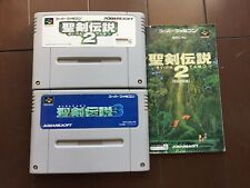 FREE SHIPPNG SEIKEN DENSETSU 2&3 SUPER Famicom SNES Nintendo JAPAN