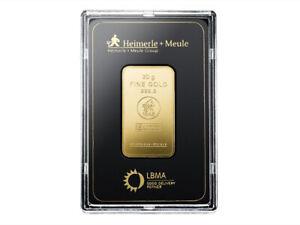 Goldbarren 999 Feingold 20g Blisterkarte LBMA zertifiziert