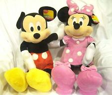 """DISNEY 24"""" MICKEY MOUSE & MINNIE MOUSE COMBO PLUSH TOYS-LICENSED STUFFED TOY"""