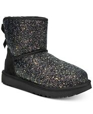 1107073 UGG Australia COSMOS Mini Bow Black Sparkles Boots 6 7 11 I LOVE SHOES