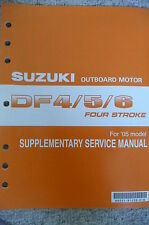05 Suzuki DF4/5/6 DF4 DF5 DF6 Outboard Motor Supplementary Service Manual