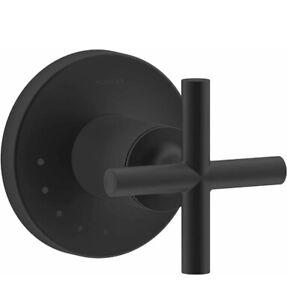 Kohler T14490-3-BL Purist Cross Handle Volume Control Valve Trim, Matte Black