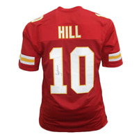 Tyreek Hill Autographed Football Jersey Red (JSA)