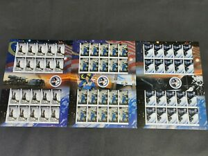2008 Malaysia astronaut angkasawan space rocket 3 full stamp sheets MNH