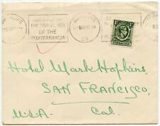 GIBRALTAR 1939 PRINTED MATTER RATE 1/2d to SAN FRANCISCO USA UNSEALED MAIL