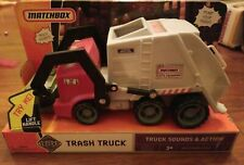 BRAND NEW MATCHBOX WASTE MANAGEMENT TRASH TRUCK SOUNDS & ACTION HTF -FREE SHIP-