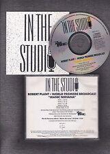 CD ROBERT PLANT World premiere Broadcast Manic Nirvana IN THE STUDIO Album Netwo