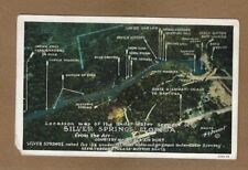 Silver Springs,FL Florida, location map of under water scenes