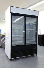 MCF8709   Two 2 Double Door Merchandiser Restaurant Refrigerator Cooler Reach In