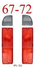 67 72 Chevy 4Pc Tail Light & Reverse Set GMC C/K Truck Blazer