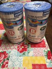 2 Intex Pool Filter Cartridges (Size B)