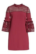 NWT Ted Baker London Lace Panel Bell Sleeve Tunic Dress Size Ted's 2