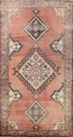 Antique Traditional Geometric Area Rug Wool Hand-Knotted Oriental Carpet 4x7