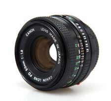** Canon 50mm f/1.8 Fd Manual Vintage Con Tapas Lente estándar de Prime **
