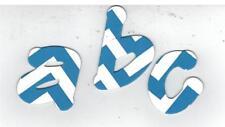 """Royal Blue & White Chevron""  Lollipop Shadow Lower Case Chipboard Letters"